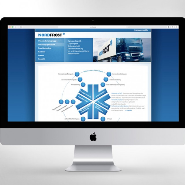 Nordfrost Webdesign Homepage