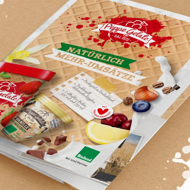 Peppe Gelato - Salesfolder Grafikdesign